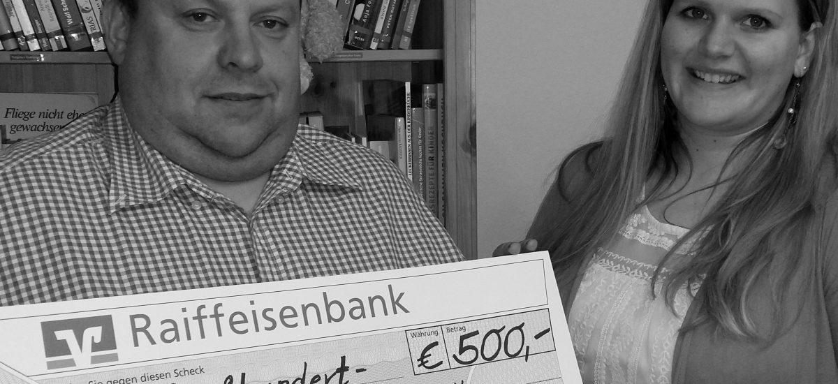 500 Euro Spende von Elektro Kestler