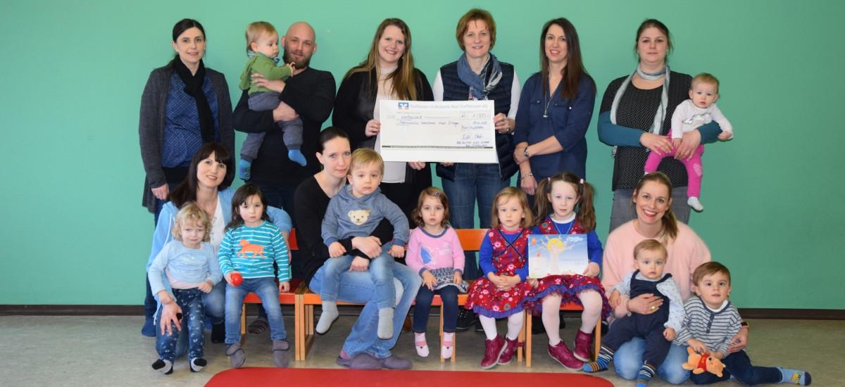1.000 Euro von der Mutter-Kind-Gruppe Bad Staffelstein