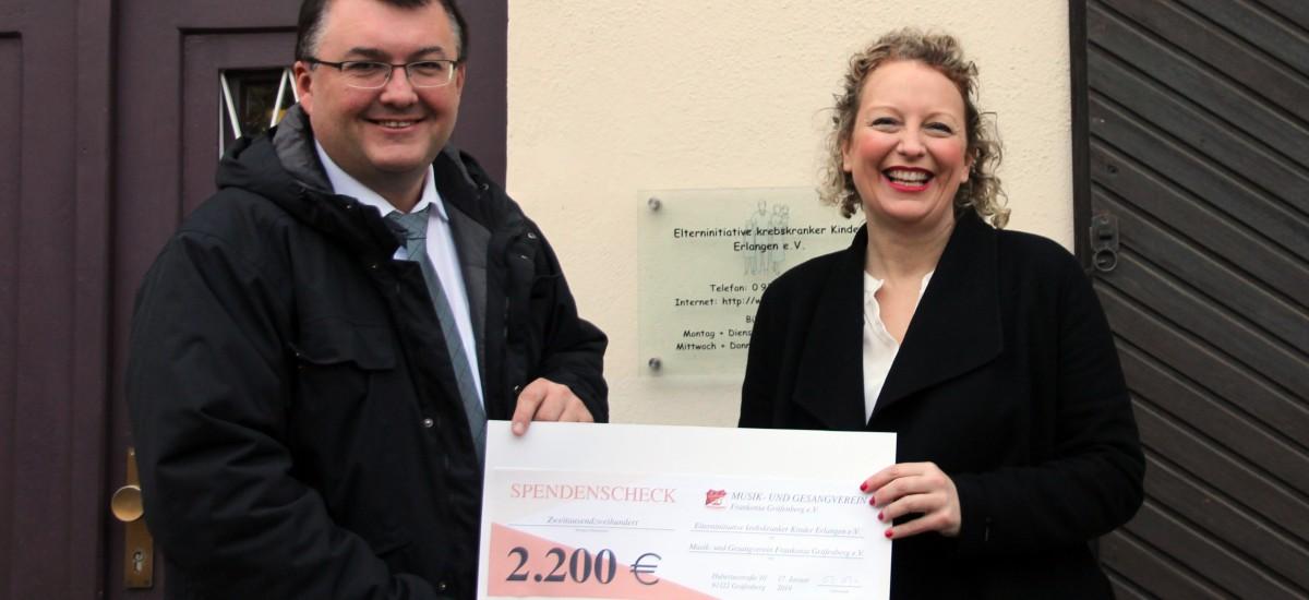 Musik- und Gesangverein Gräfenberg veranstaltet Weihnachtskonzert zugunsten krebskranker Kinder