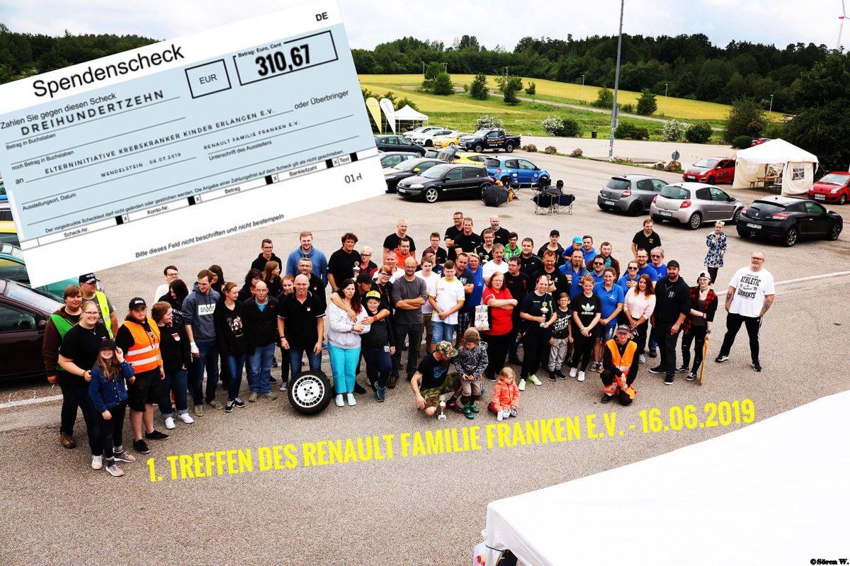 Renault Familie Franken e.V. spendet für krebskranke Kinder
