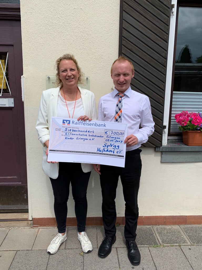 SpVgg Hessdorf spendet 700 Euro