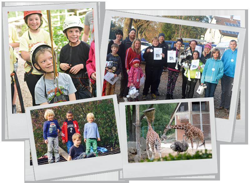 Collage Ausflüge Elterninitiative krebskranker Kinder Erlangen e.V.